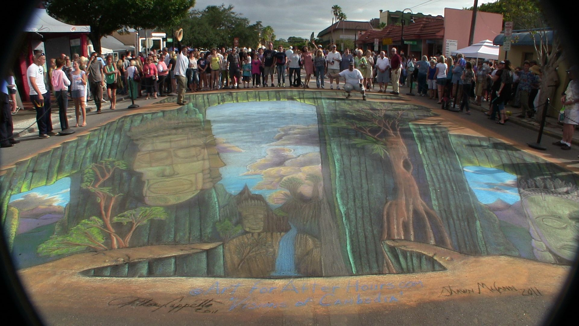 3d Street Art Painting In Cambodia