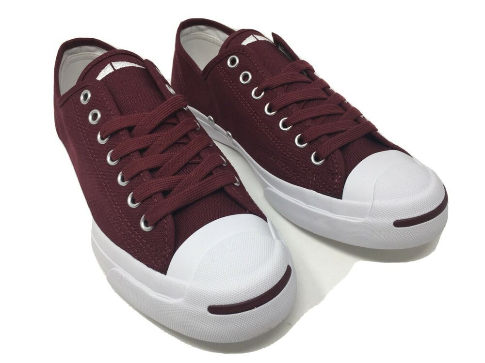 incidente clásico doble  Converse Jack Purcell JACK OX Low Top Dark Burgundy & White 161634C Unisex  NIB #Converse | Converse jack purcell, Jack purcell, Sneakers for sale