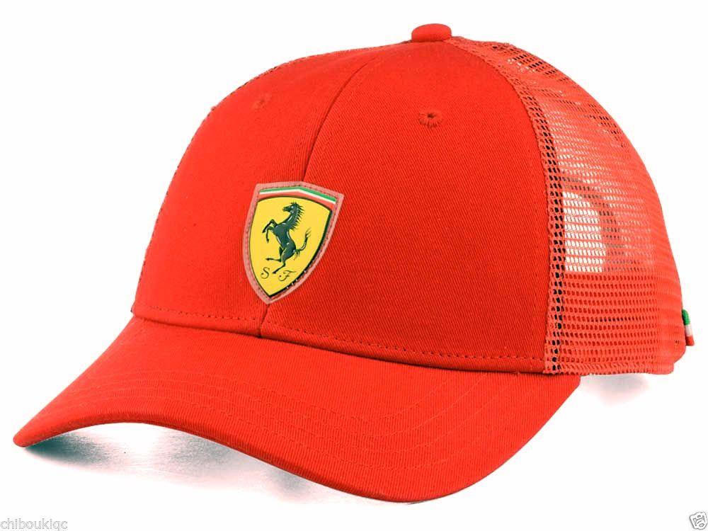 3a189952408 NEW Puma Ferrari AUTHENTIC snap back trucker hat cap adjustable ...