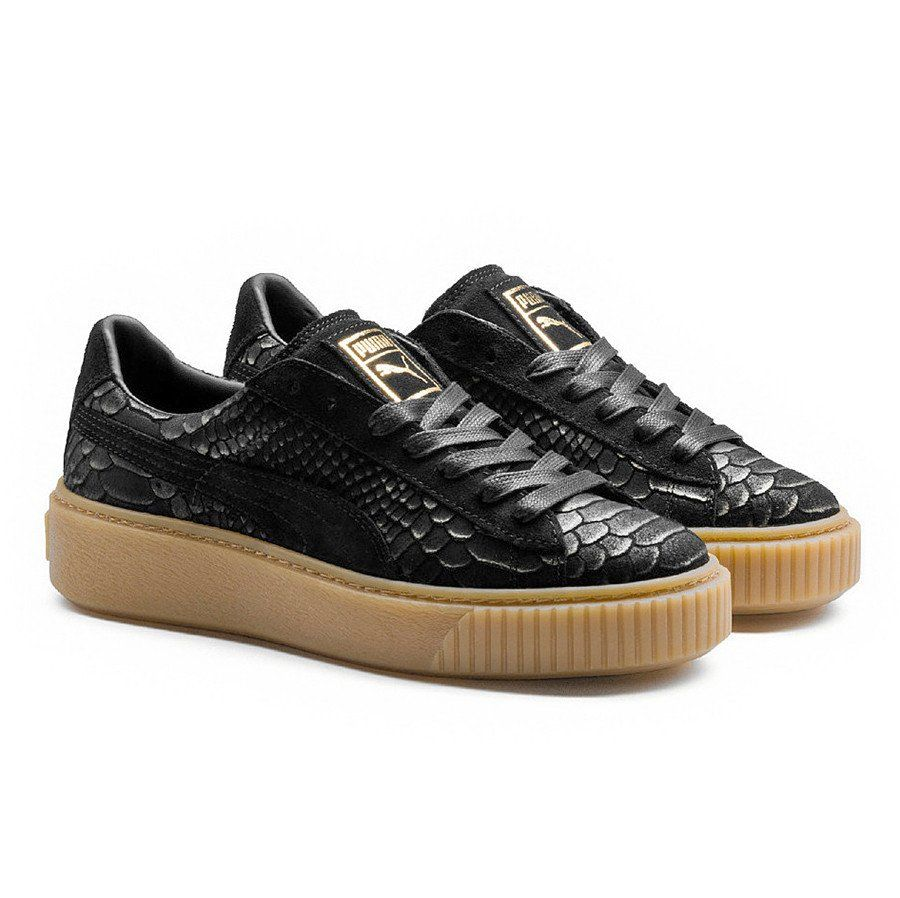 Zapatillas Puma Platform Exotskin Black Gold Rihanna