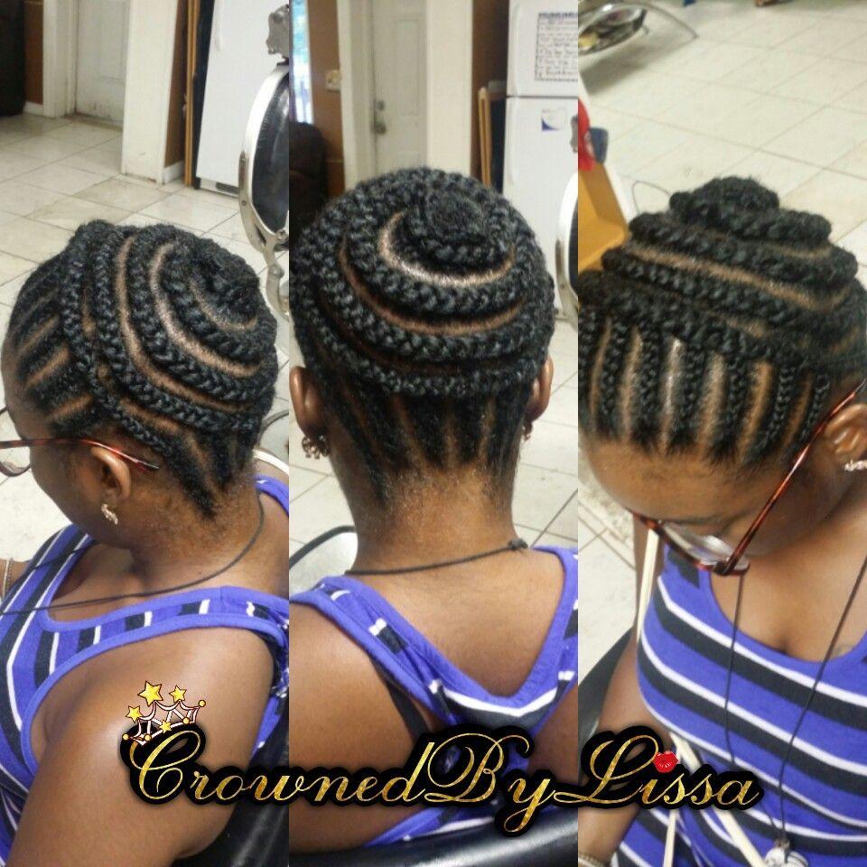 braid pattern crochet ponytail