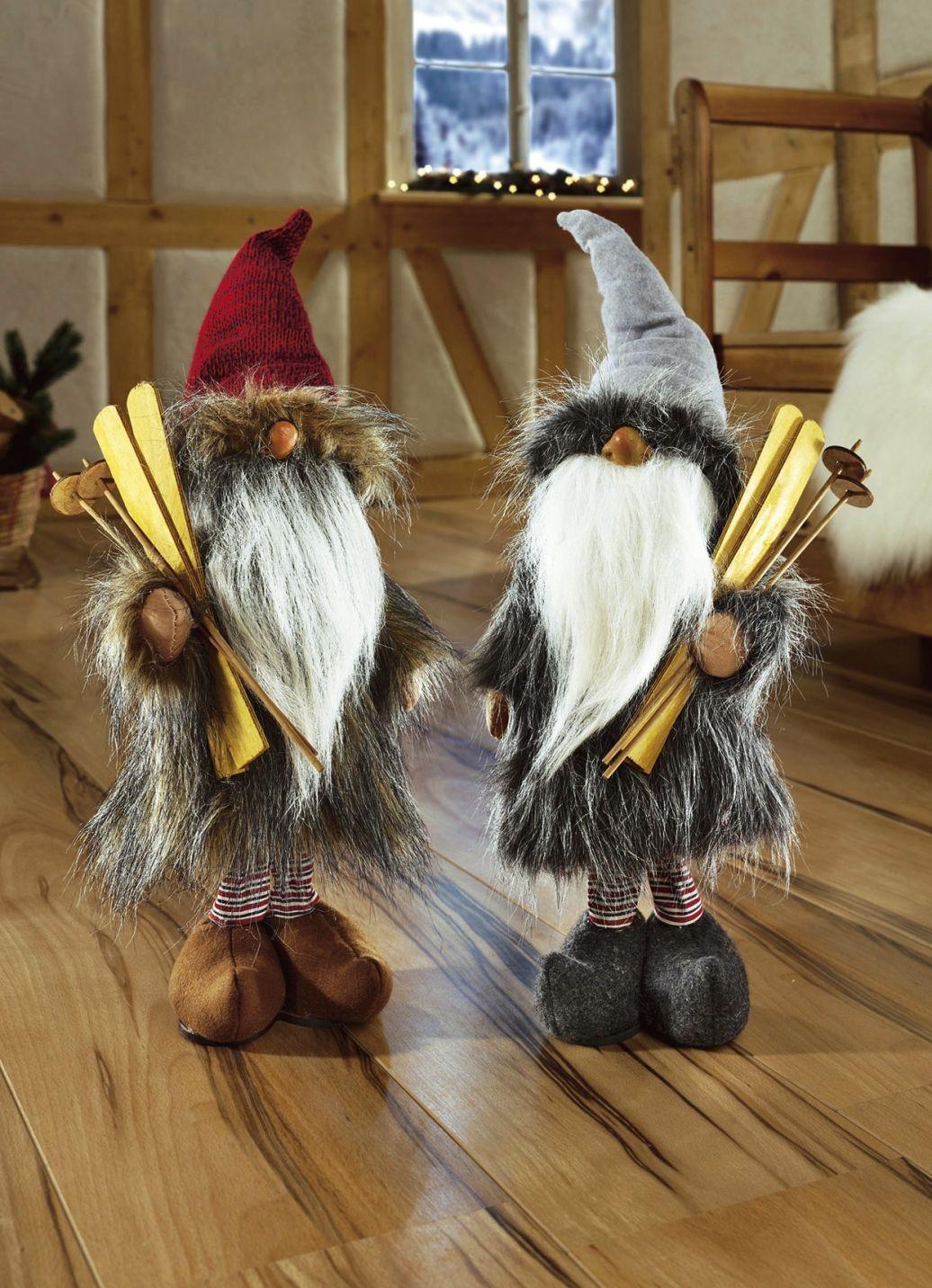 Wichtel Figuren 2er Set Weihnachtliche Dekorationen Weihnachten