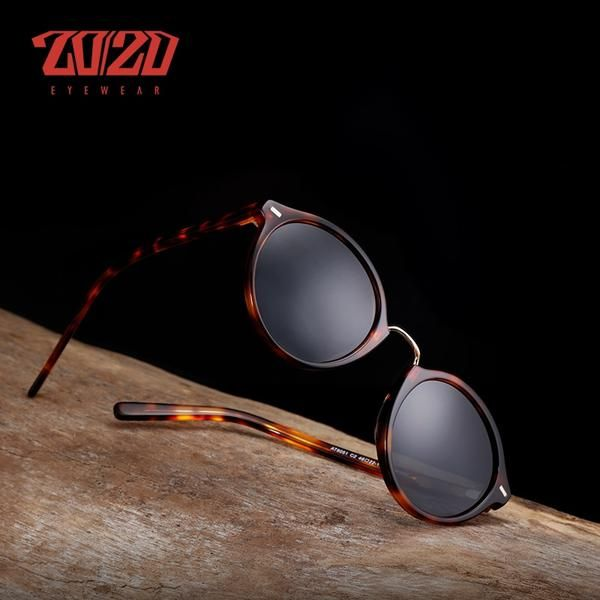 d38b519885 20 20 Brand Classic Polarized Men Acetate Sunglasses Unisex Travel Fashion  Round Sun Glasses Women