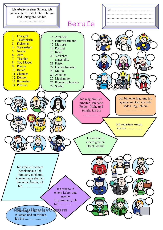 Berufe | German, Language and Worksheets