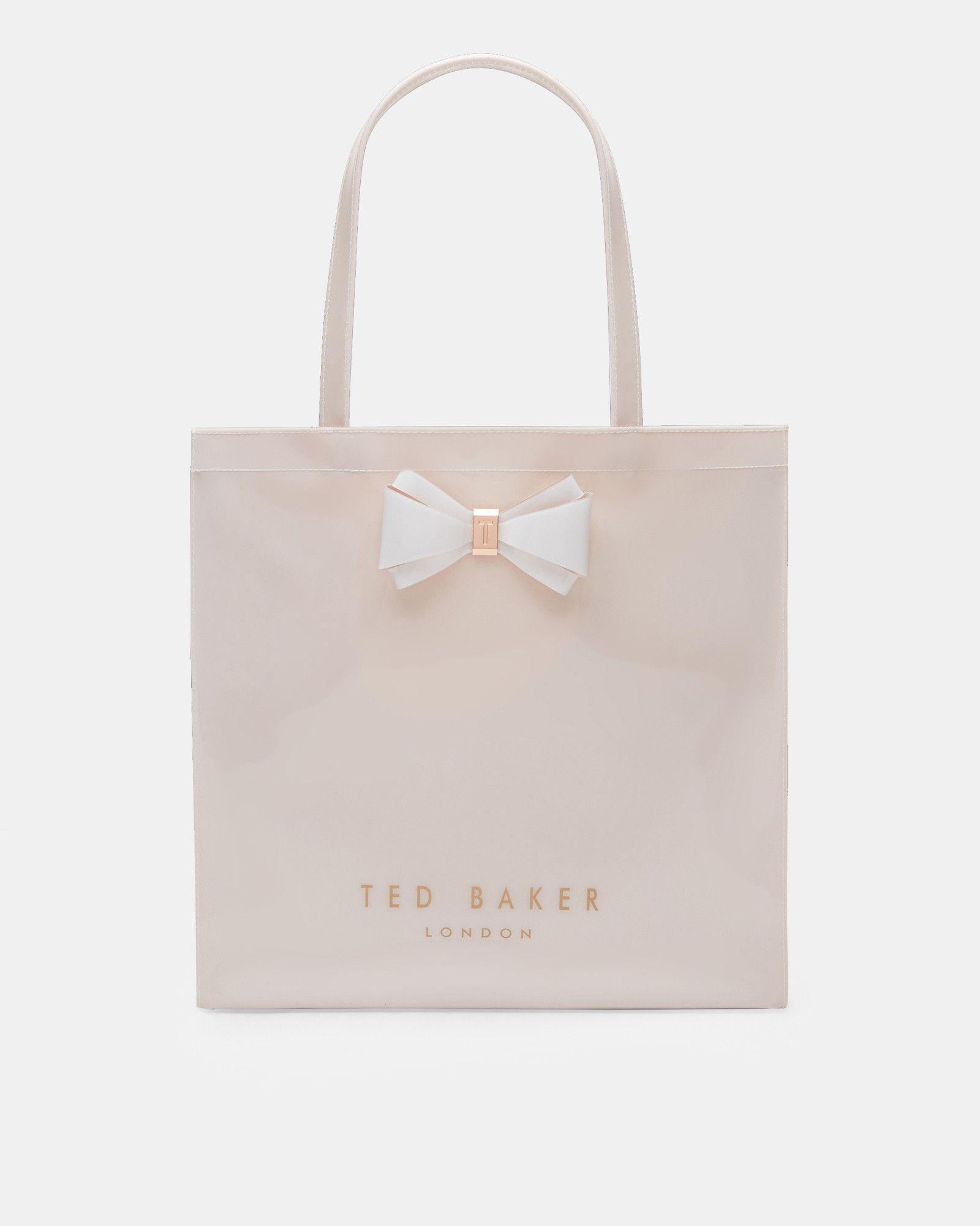 edb0ff12f57c Ted Baker Bow detail large shopper bag Mid Pink