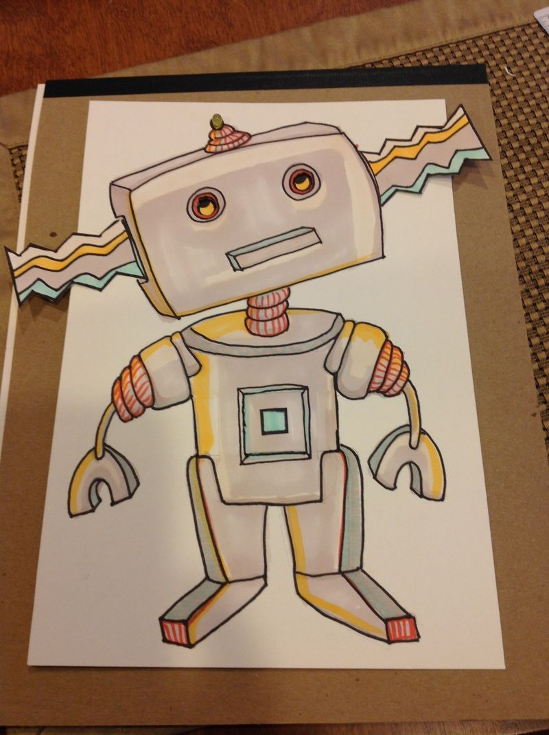 Robot Circuits Art Great Installation Of Wiring Diagram Simple Robotics For Beginners By A Circuitry Pinterest Paper Maker Stem Spaces Etc Rh Com Led Circuit
