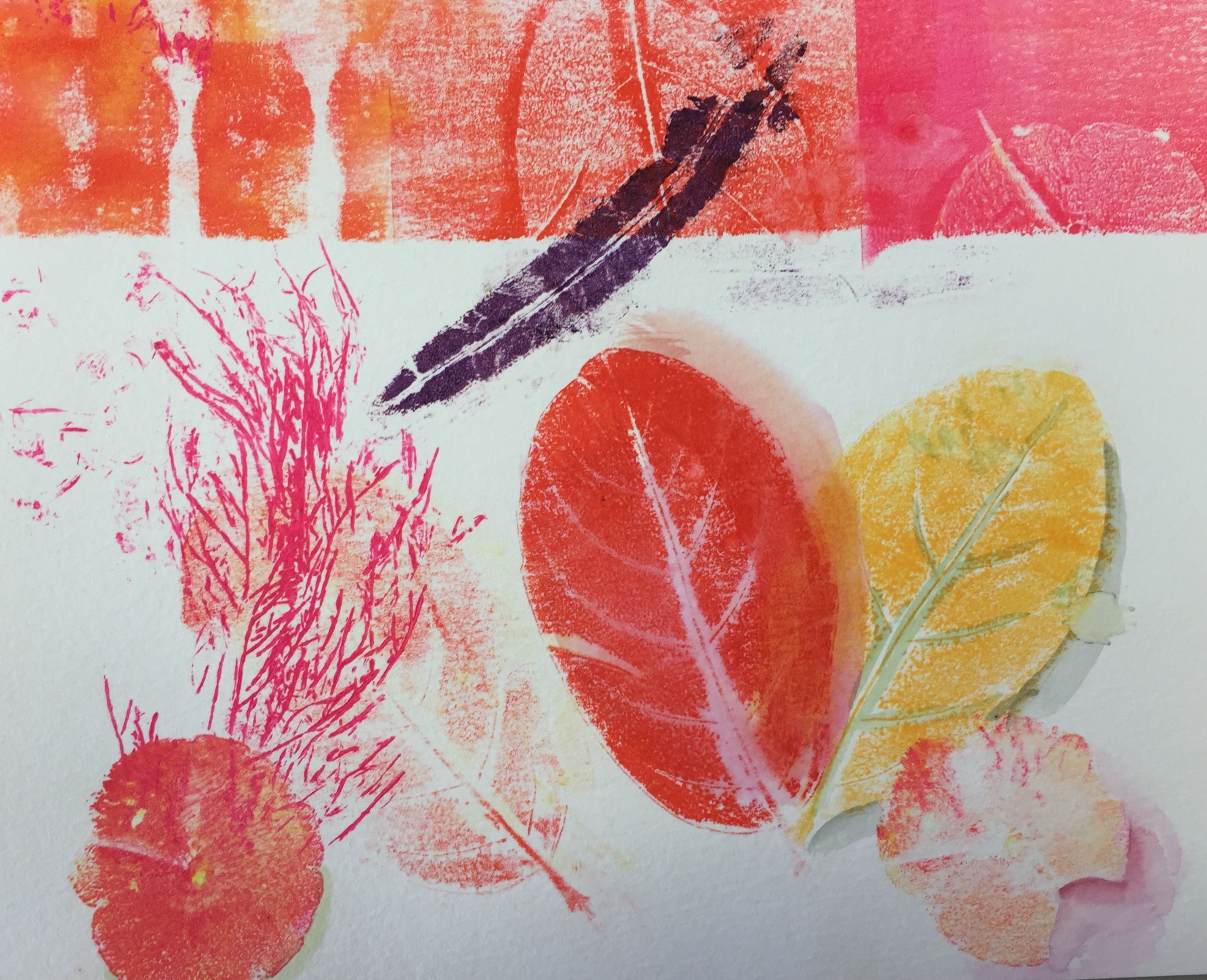 Hand Printing From Nature Block Printing Inks Watercolor On
