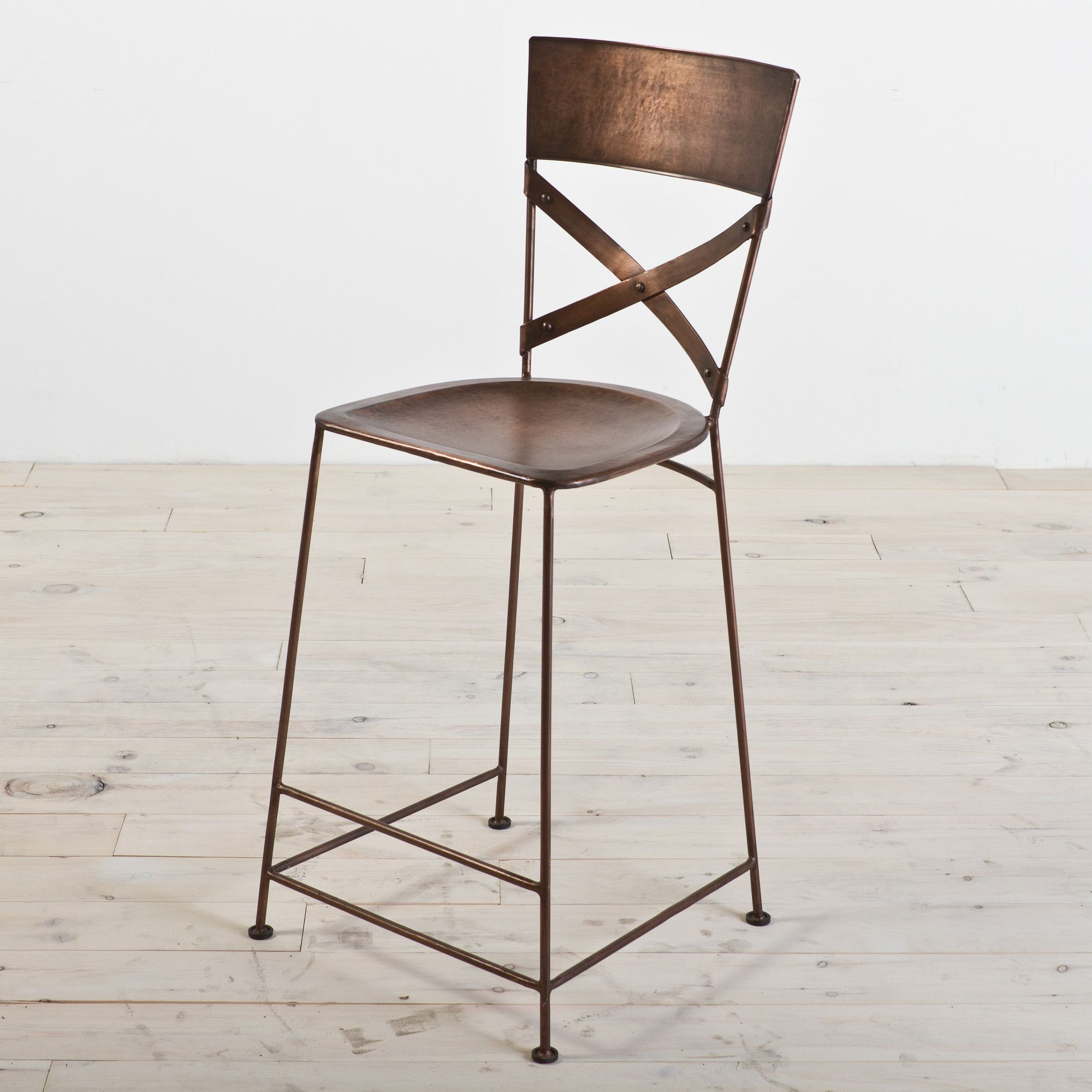Industrial iron bar stool