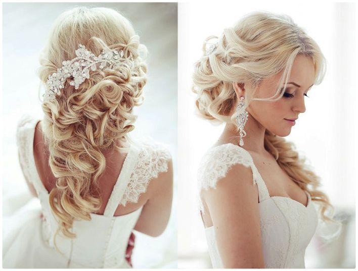 Прически на свадьбу на длинные волосы фото без