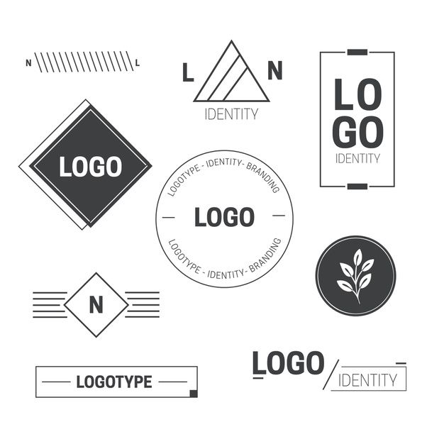 Download Minimal Logo Element Collection In Two Colors For
