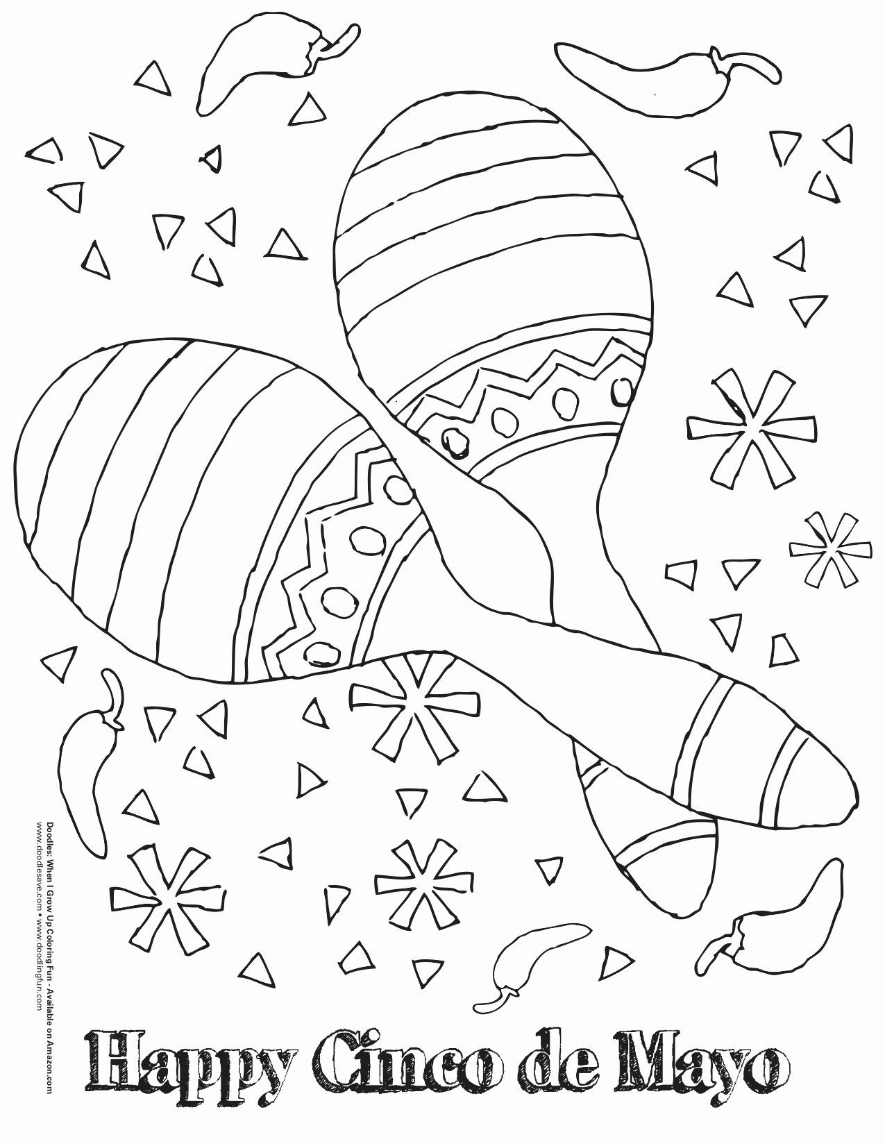 Fiesta Coloring Pages Free Printable Lovely Mexican