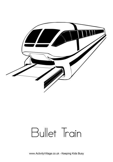 Bullet Train Printable Coloring Pages