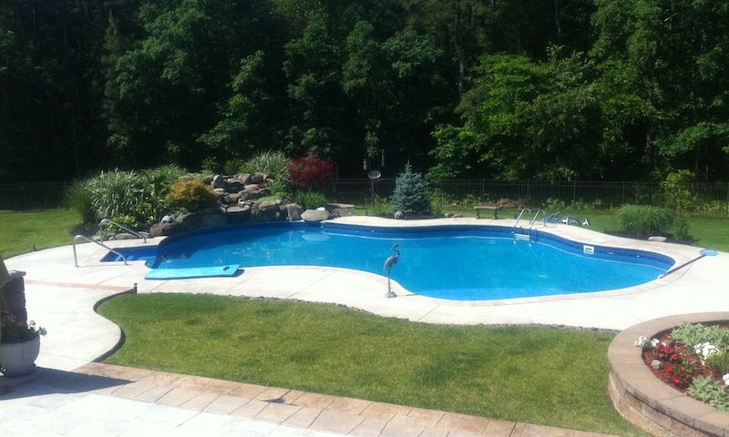 Stamped Concrete Pool Deck Concrete Pool Renovation Nj Pool Renovation Concrete Pool Pool