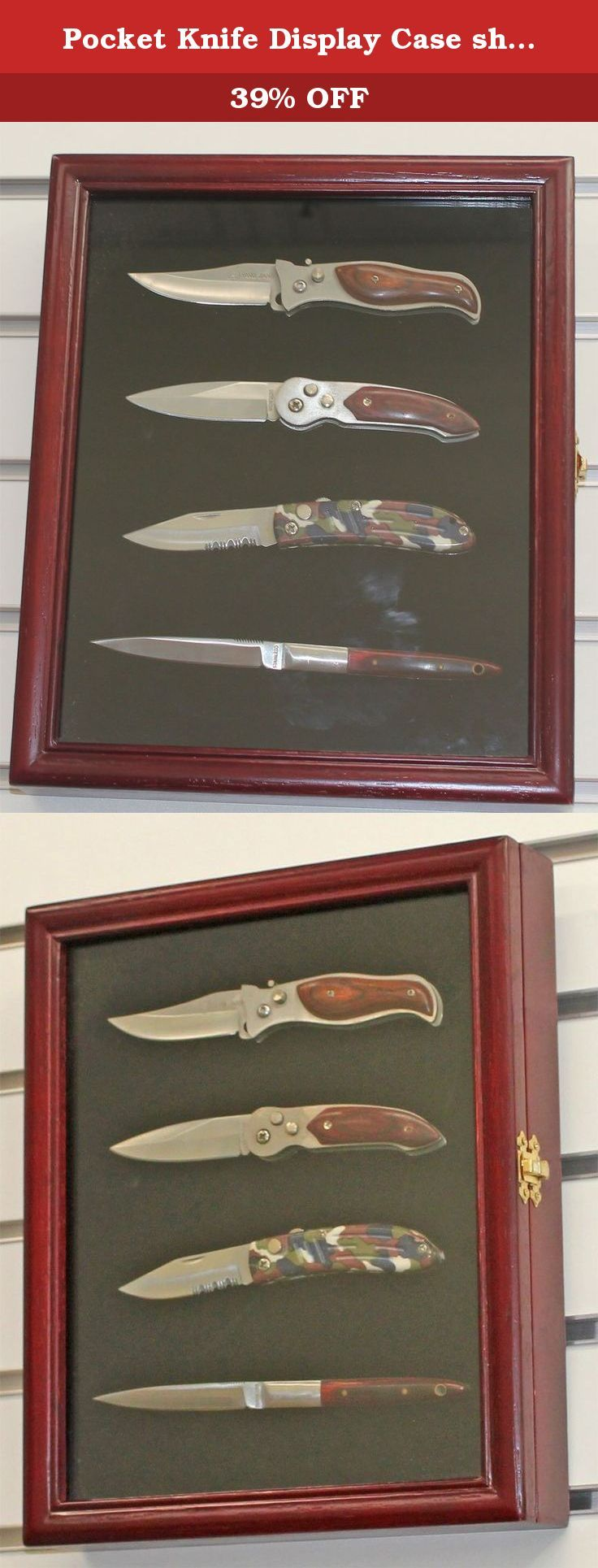 Pocket Knife Display Case Shadow Box With Glass Door Cherry Finish Kc02 Ch A Great Way T Pocket Knife Display Case Pocket Knife Display Knife Display Case