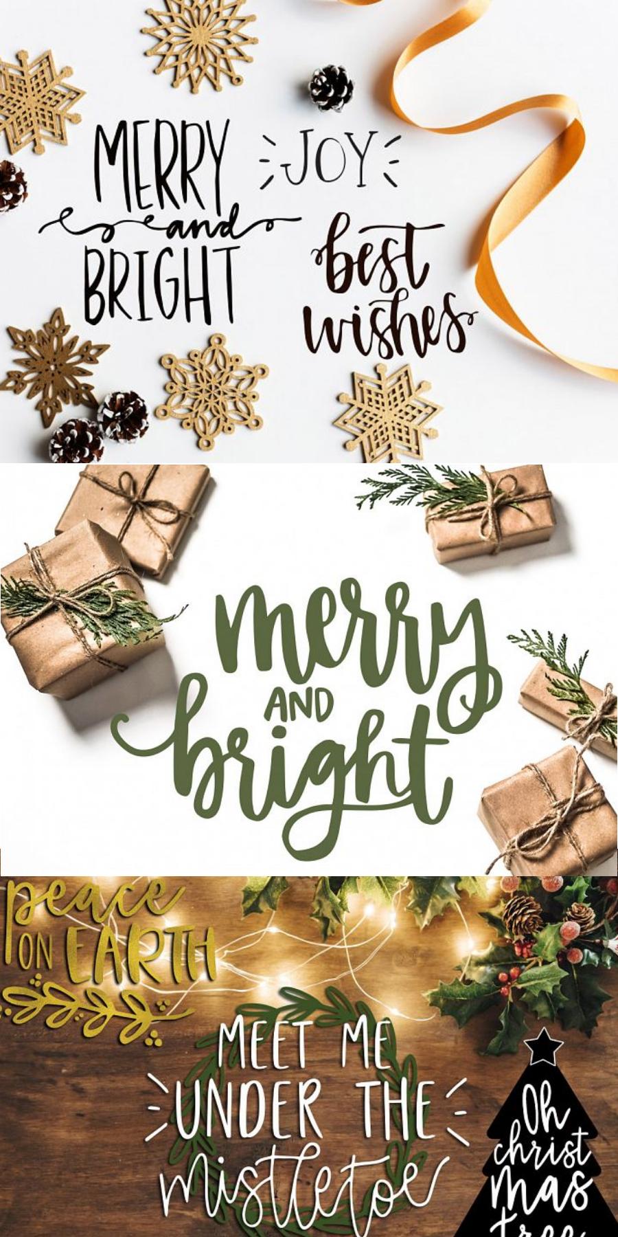 40 Christmas Photo Overlays Free Symbols Font 44793 Illustrations Design Bundles Hand Lettered Christmas Christmas Lettering Free Symbols