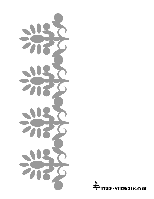 photograph relating to Free Printable Border Stencils called no cost printable floral border stencil Producing Printable