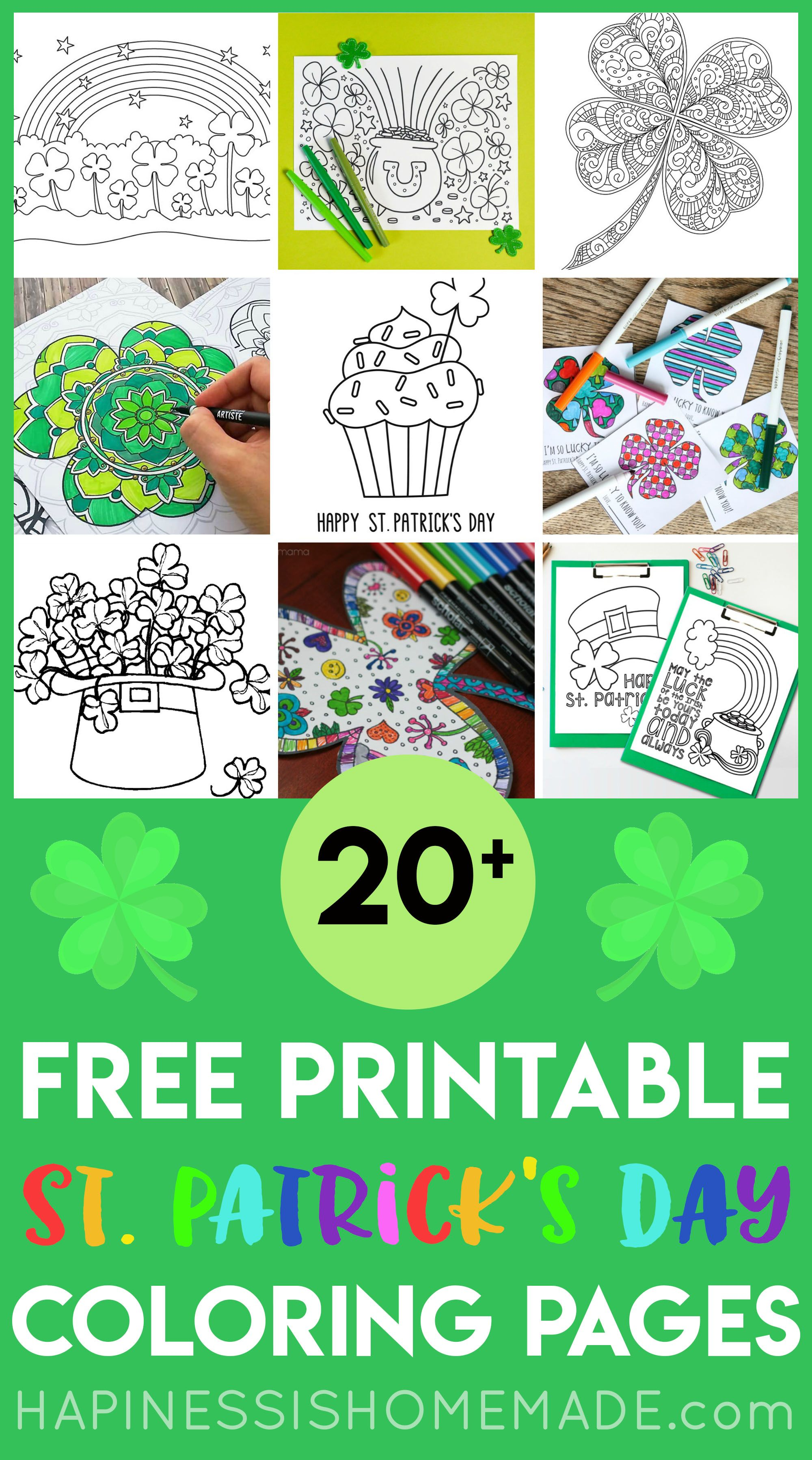 20 Free Printable St Patrick S Day Coloring Pages