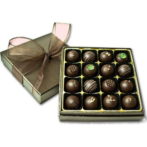 16 Piece Assorted Truffle Collection from JinJu Chocolates Chocolate gifts, Truffles