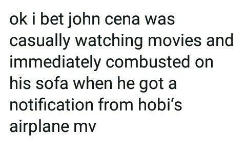 I love that John Cena likes BTS