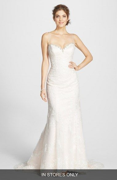 James Clifford Collection Beaded Lace Mermaid Gown In Stores Only Available At Nordstrom