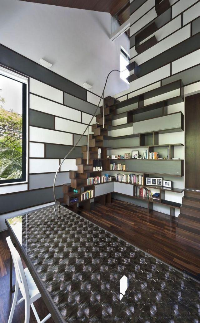 Home-Office-einrichten-Hausbibliothek-modulare-Möbel-Bücherregale ...
