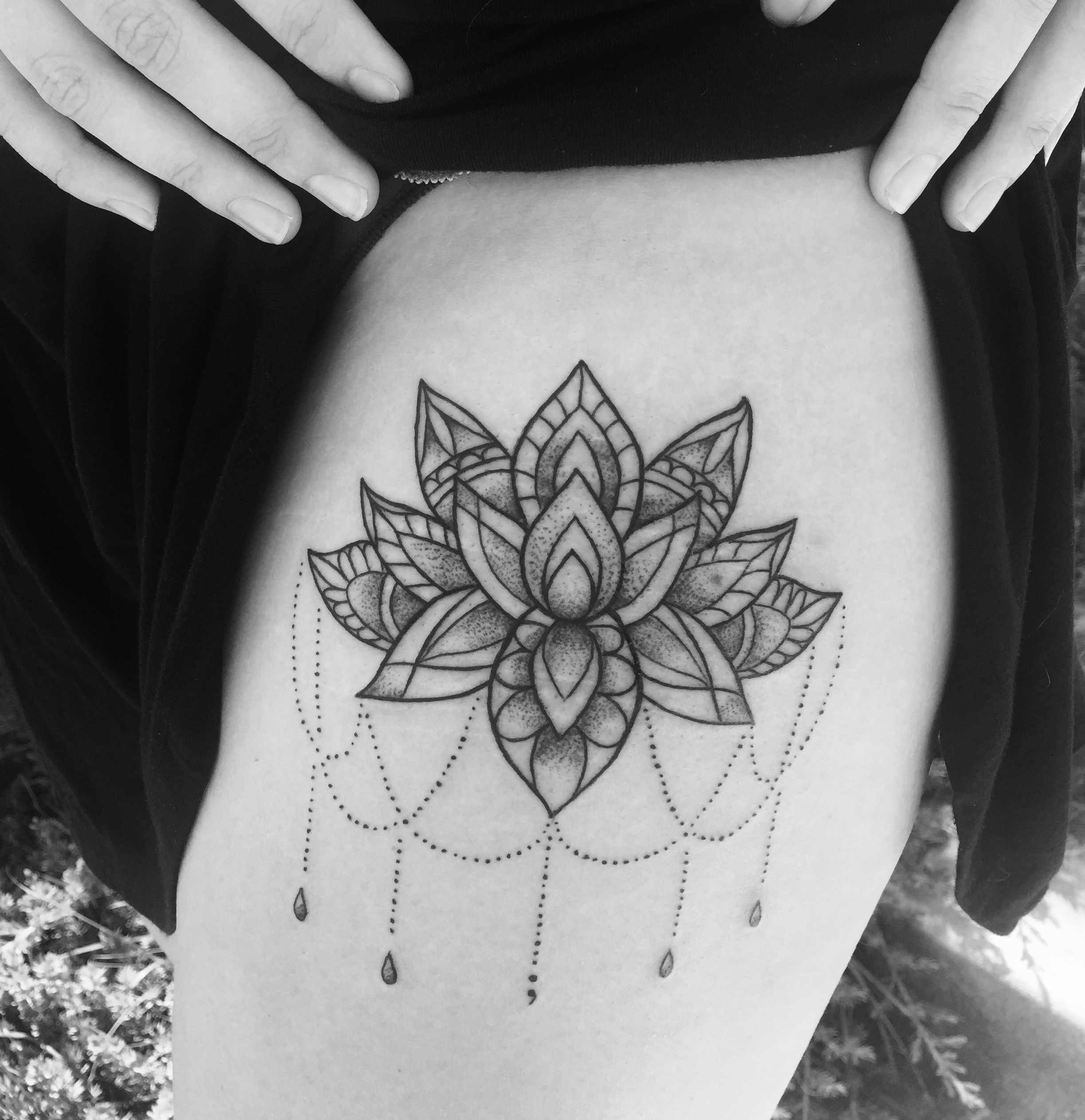 My Mandala Style Lotus Flower With Semi Colon By Casey Hart At Rose