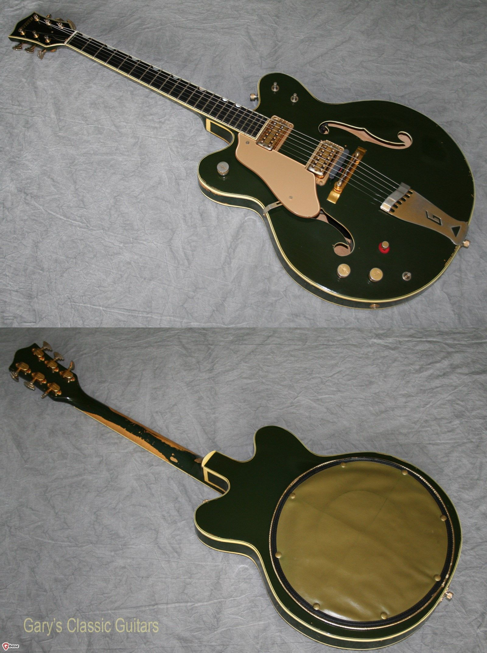 0a70404cbf 1962 Gretsch Country Club, Ultra Rare Left handed, Cadillac Green, Double  cutaway, Gold hardware, Two Filtertrons, Grover imperial tuners,