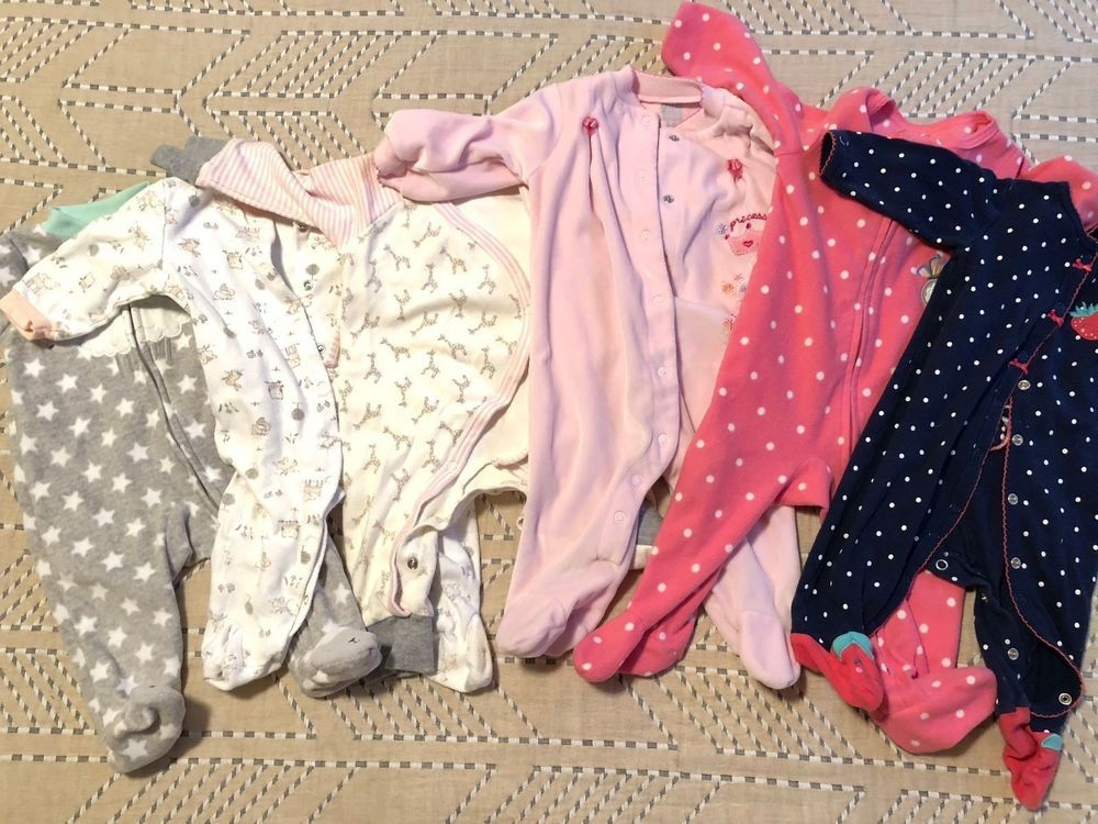 5981db5d1 Lot of 6 Baby Girl Sleepers Pajamas Carters & Others - Size 3-6 Months  #fashion #clothing #shoes #accessories #babytoddlerclothing  #girlsclothingnewborn5t ...