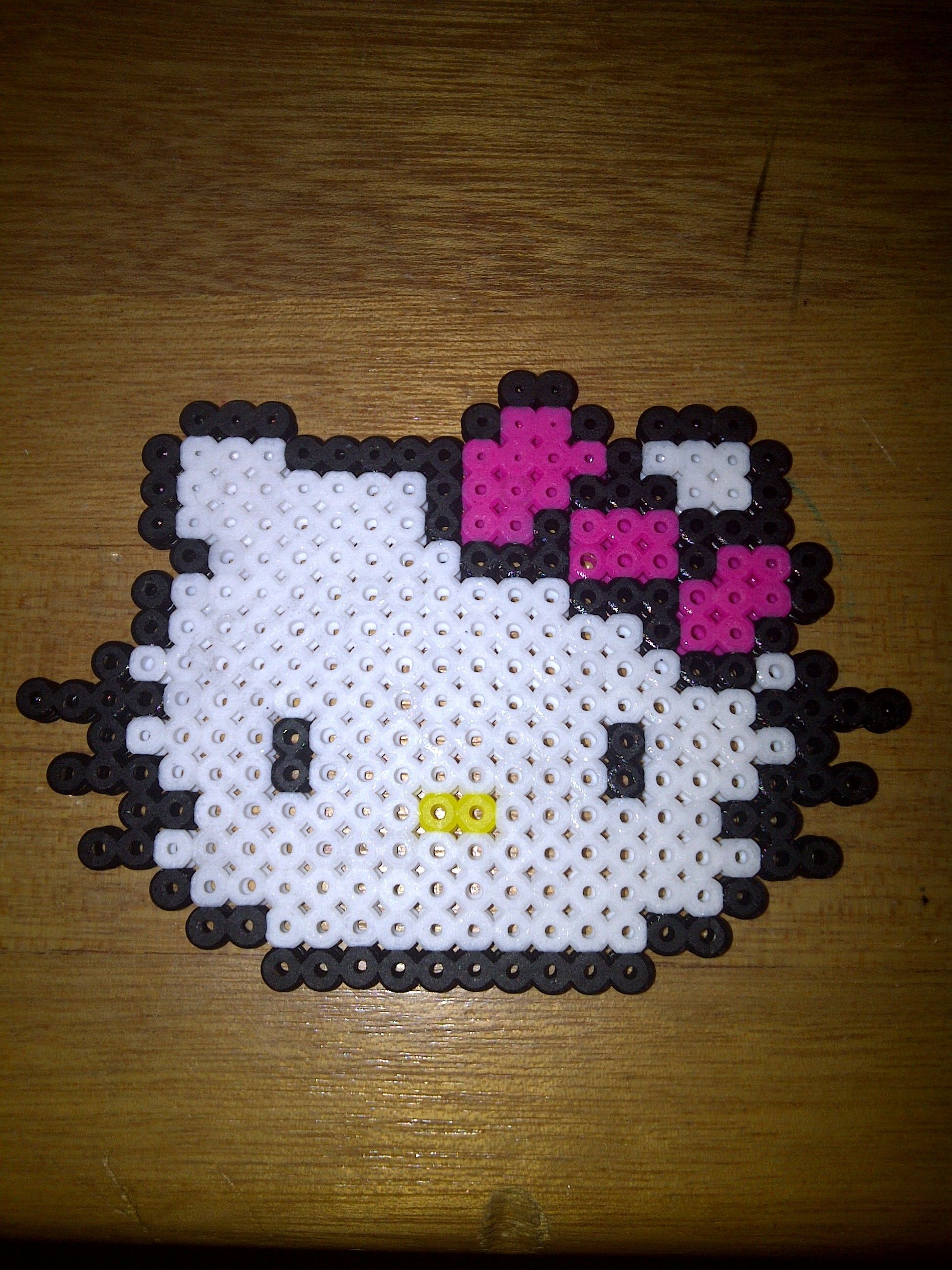 Hello Kitty  perler beads by Tiffany Sheaffer