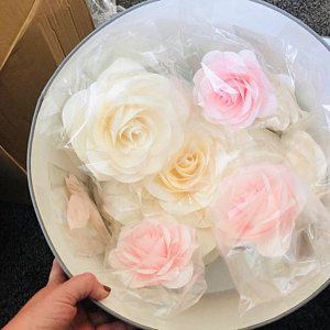 Standing Giant Paper Flowers - Self-standing Paper Flowers - Paper Flowers on the metal base, stand #paperflowerswedding