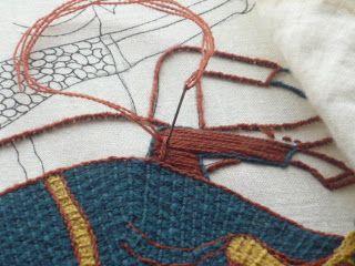 Bayoux stitch pierres papiers ciseaux le point de bayeux tast 9 vikingos pinterest - Point p bayeux ...
