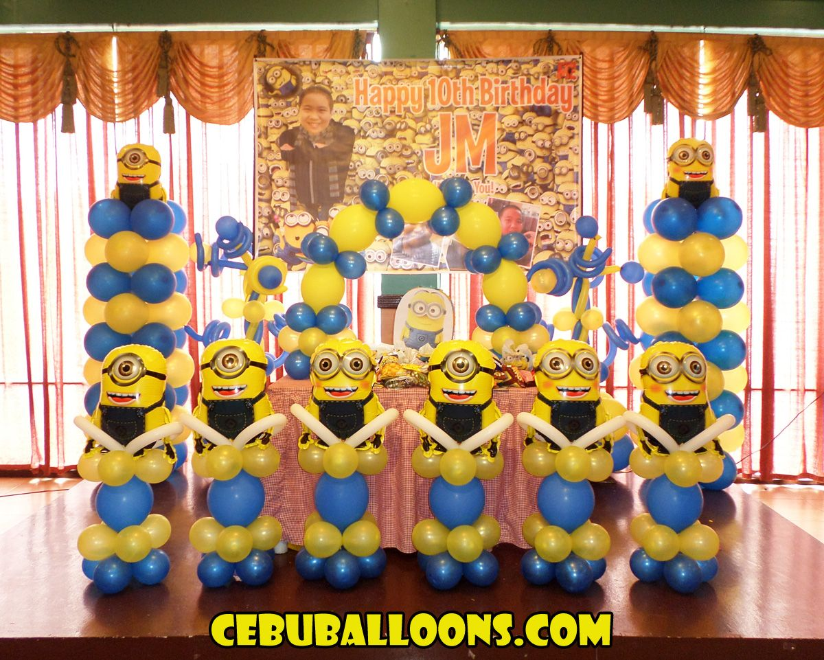 Decoration Stuff For Party Minions Balloon Decoration Jms 10th Birthday At Hannahs Party
