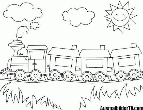 Ausmalbilder Eisenbahn Train Coloring Pages Kindergarten Coloring Pages Preschool Coloring Pages
