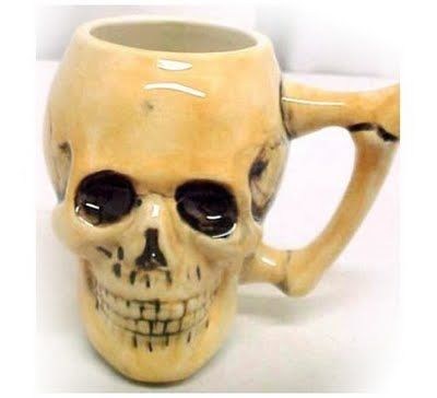 Love this skull coffee mug http://2.bp.blogspot.com/_dXDZmgVew5A/Spg-r8_s1ZI/AAAAAAAAFmw/B9ohm2jW9WE/s400/skull+coffee+cup.jpg