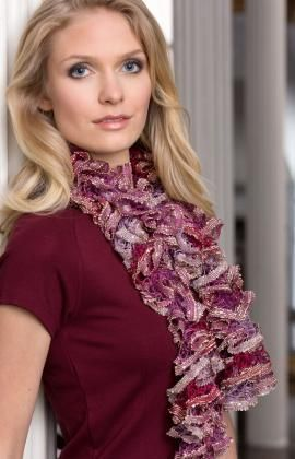 Clementina Scarf Free Ruffle Scarf Knitting Pattern From Red Heart
