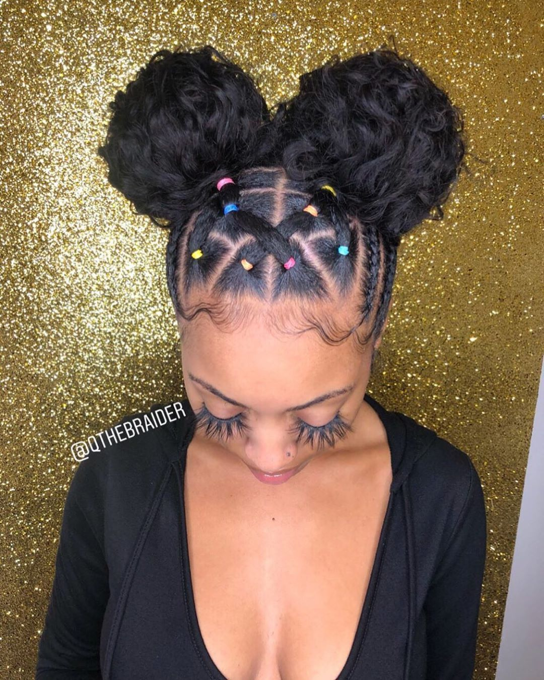 Qthebraider On Instagram Qthebraider On Instagram Aesthetic Hair Natural Hair Styles Easy Hair Puff