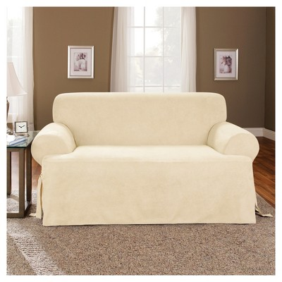 Loveseat Slipcover Sure Fit Cream Ivory Products Sofa