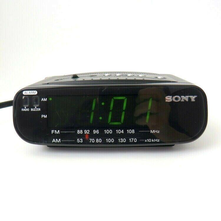 Sony Icf C212 Dream Machine Fm Am Alarm Clock Radio Black Tested