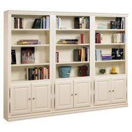 Showcasing Bottom Cabinets And Open Shelving This Handcrafted Oak Wood Bookcase Is Perfect For Displaying Leather Tomes Treasured Travel Heirlooms