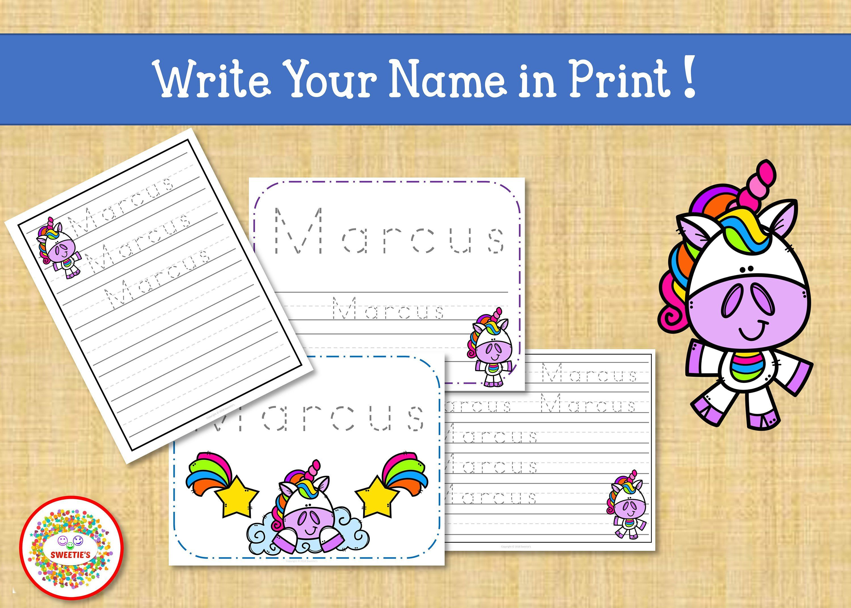 Name Tracing Handwriting Worksheet Personalized Name