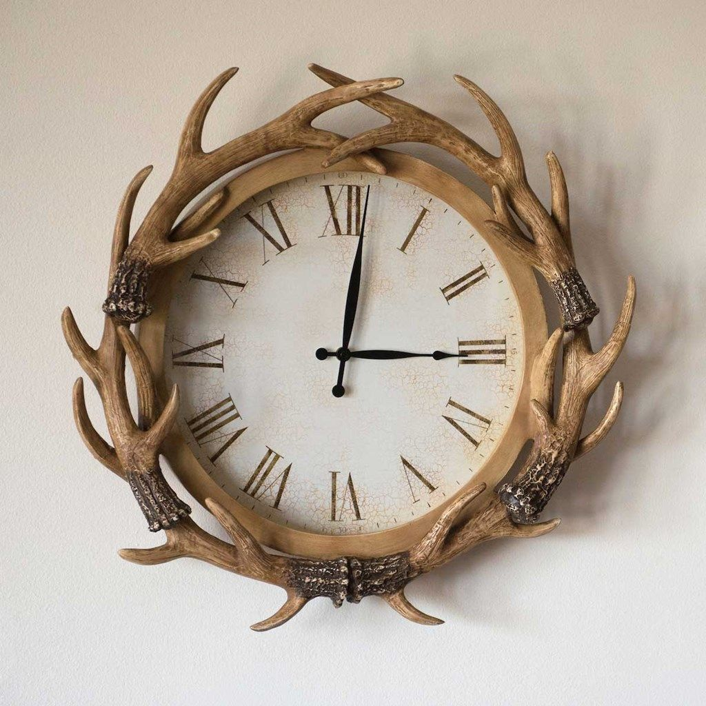 antler wall clock in 2020 clock old country stores wall on wall clocks id=71850