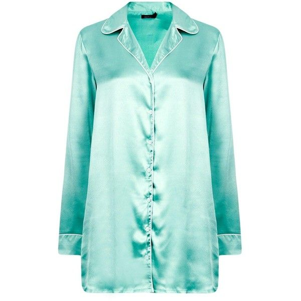 1ffdac6901e Boohoo Isabella Satin Night Shirt Dress