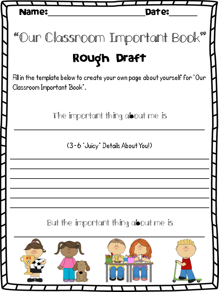 The Important Book Activity A Fab Way To Intro Or Review Main Idea