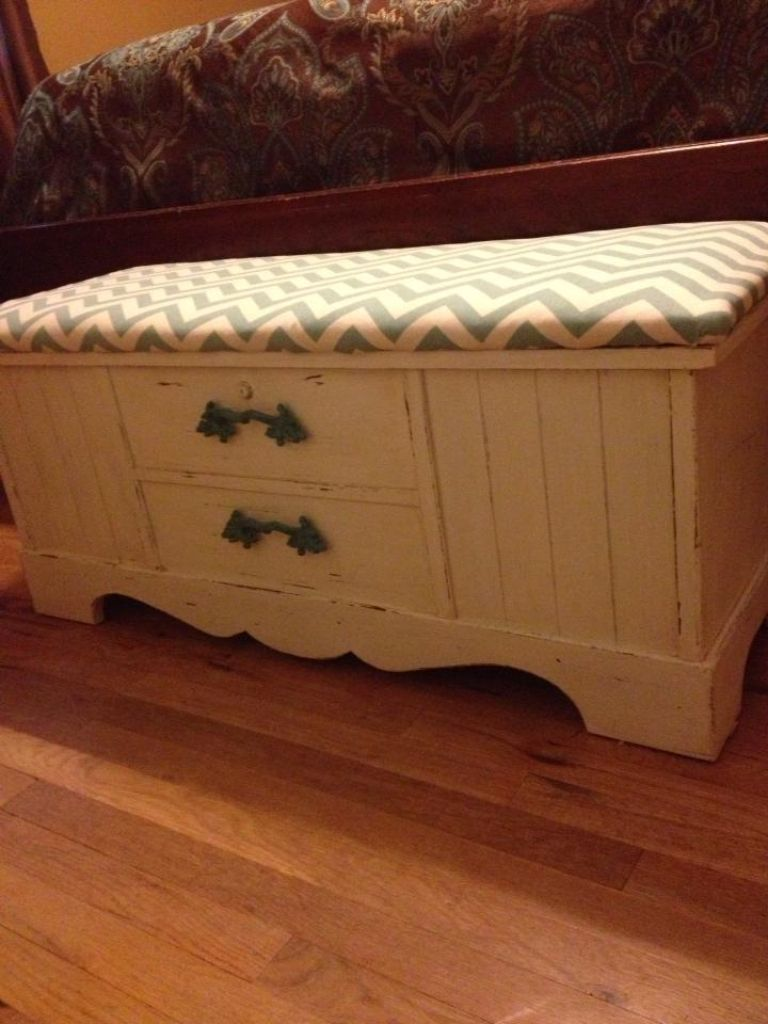 Chalk Painted Distressed Old Lane Cedar Chest Chalk