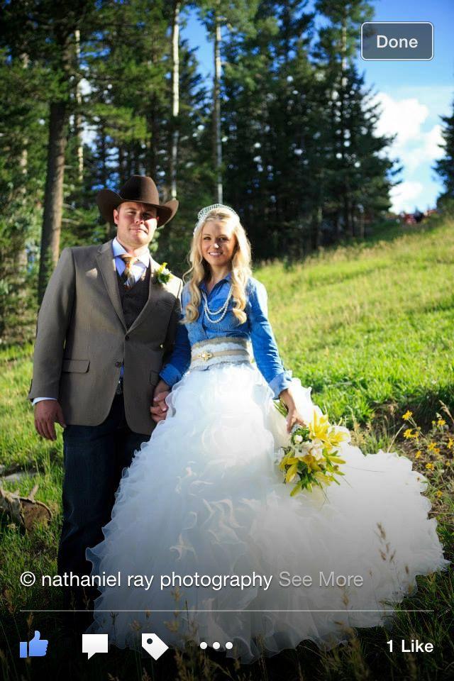 Country Wedding Denim Burlap Flannel Dress Dresses