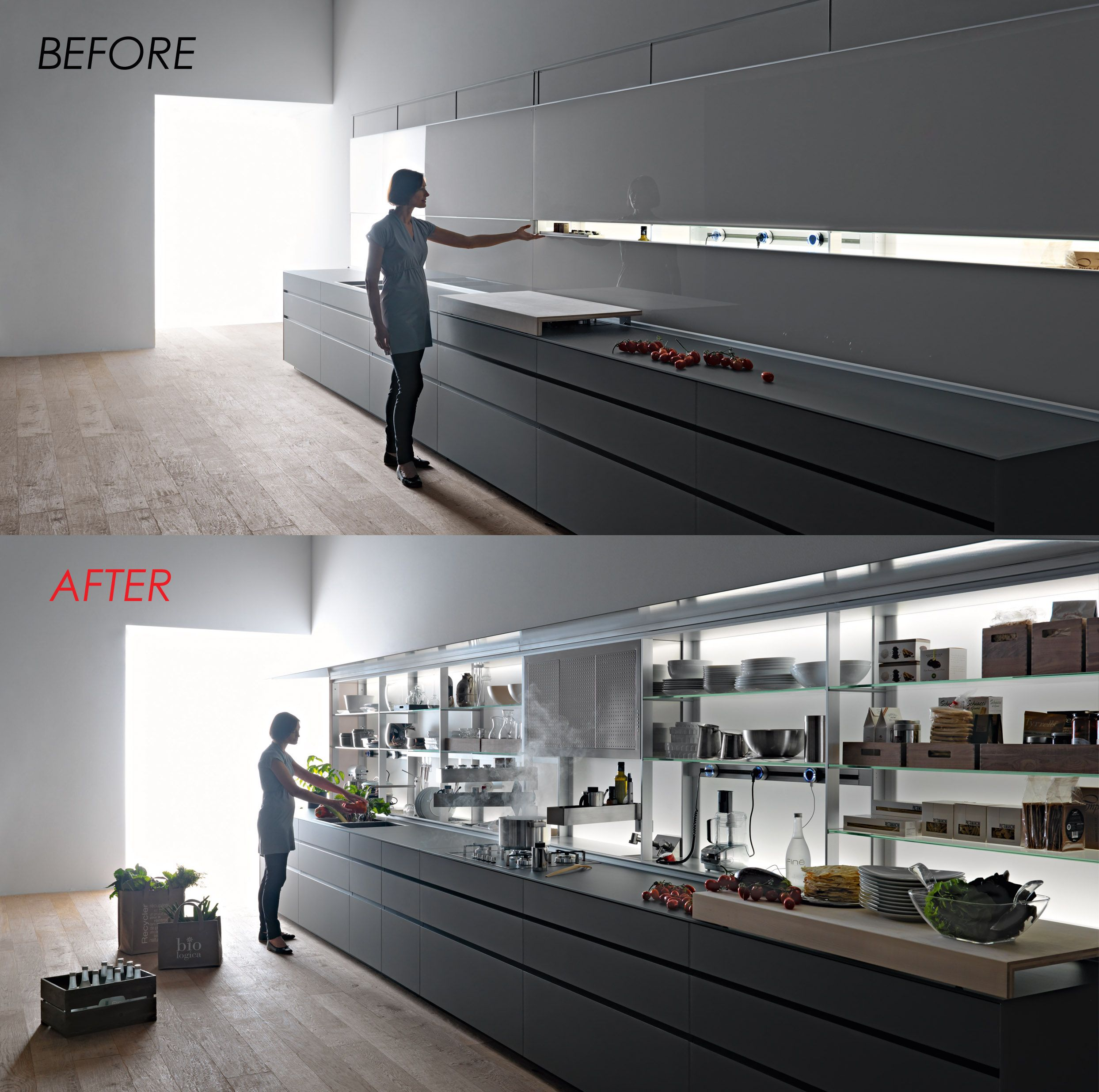 Before After Version Of A Akruti Kitchen With Images