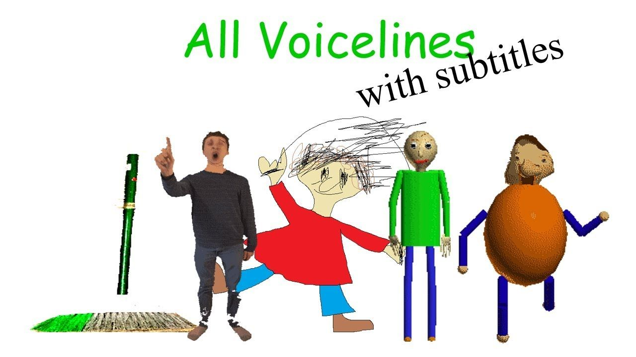 All Voicelines With Subtitles Baldi S Basics In Education And