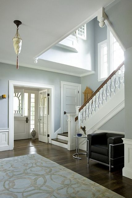 White Dutch Door Blue Foyer By The Estate Of Things, Via Flickr