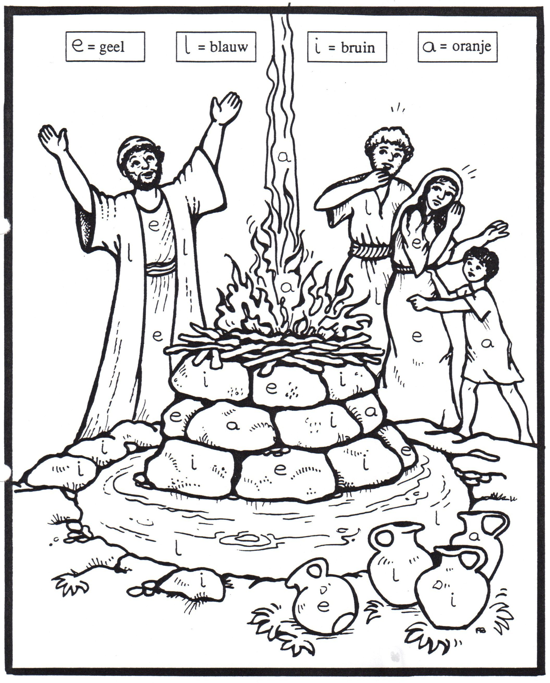 Contest At Mt Carmel With Images Sunday School Coloring Pages
