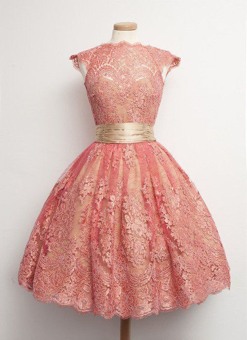 Homecoming Dresses,Junior Homecoming Dresses,Peach lace homecoming dress - Vintage party dresses, Cute dresses, Fashion dresses, Fancy dresses, Vintage fashion, Vintage dresses - NIF If you are from Brazil, please do remember tell the receiver's CPF number; if you are from Argentina, please write us the receiver's CUIL; if you are from Angola, please write us the receiver's NIF in the message box, it's really necessary when we send the dress to you; Cancellations Policy 1  Orders cancelled within 24 hours after payment confirmation will be eligible for a full refund; 2  Orders cancelled within 13 days after payment confirmation will be eligible for a partial refund, consisting of the full shipping cost and 50% of the product purchase price; 3  Orders canceled after 3 days of payment confirmation will be eligible for a partial refund consisting of the full shipping cost and 40% of the product purchase price; 4  Once your order has been shipped, it can no longer be cancelled About Feedback Thanks so much for your bidding, it will be more appreciated if you can leave us 5 STAR positive feedback if you feel that the item and our service is good for you  Great feedback will be left to you too  If any situation, you receive an unsatisfied item, please just contact us immediately, we will try to solve the problem for you  But keep in mind that any problem please do contact us first, we are really hope that you can have a happy experience from this transaction Your rating is the driving force for us